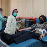 Jelang Hari Jadi ke 73, Polwan Polres Jombang Bakti Sosial Donor Darah