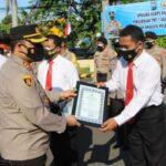 25 Anggota Berprestasi Terima Penghargaan Kapolres Kediri Kota