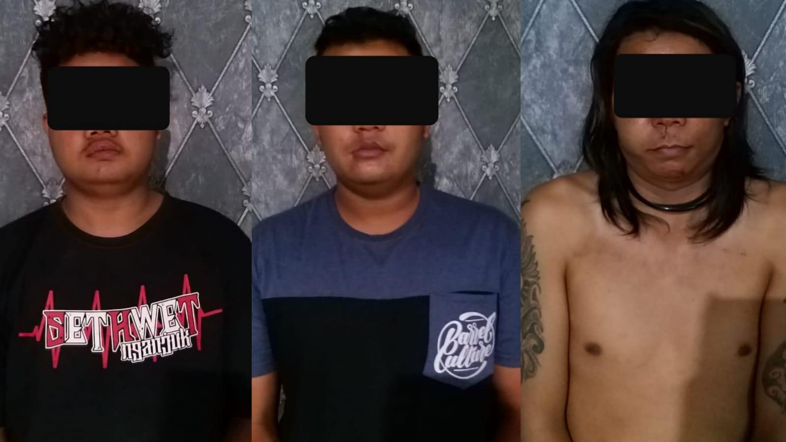 Tiga Bandit Jalanan di Nganjuk Dibekuk, Pelaku Bawa Celurit dan Samurai