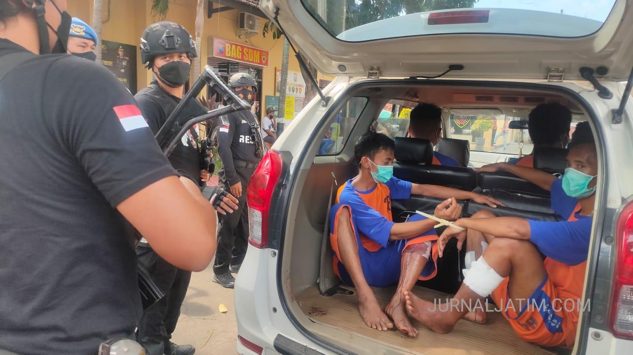 Komplotan Perampok di Jombang Dibekuk di Pasuruan, 2 Orang Ditembak