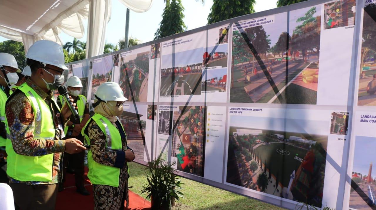 Revitalisasi Alun-alun Jombang 2021 Dimulai, Sedot Anggaran Rp9,7 Miliar