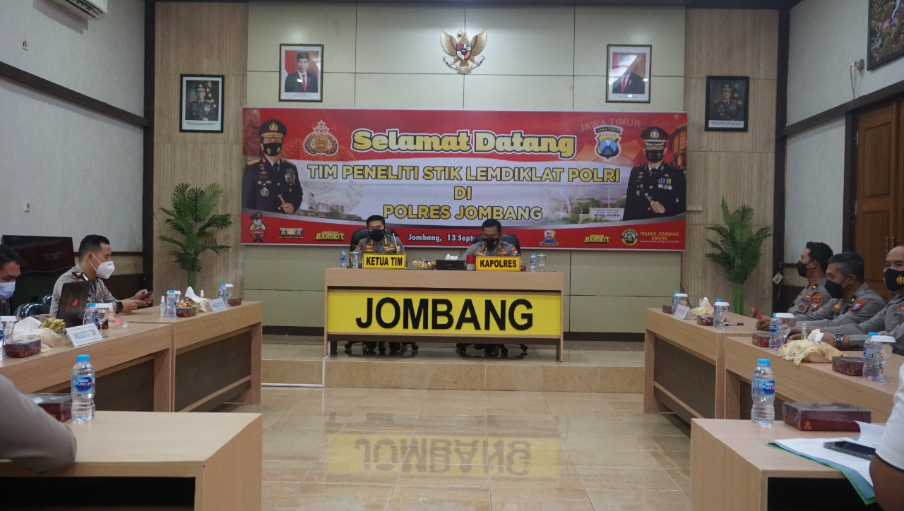 Tim Peneliti STIK Lemdiklat Polri Kunjungi Polres Jombang