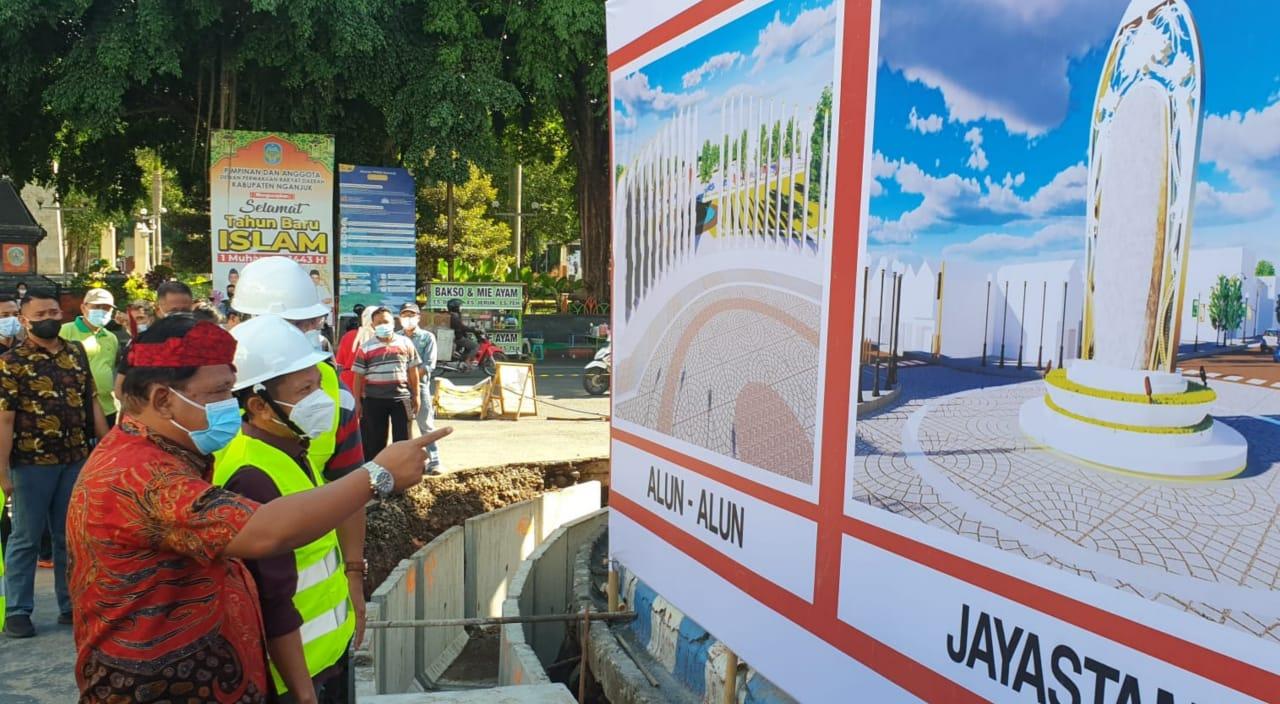 Pembangunan Pedestrian di Nganjuk Senilai Rp23 Miliar Mulai Dikerjakan