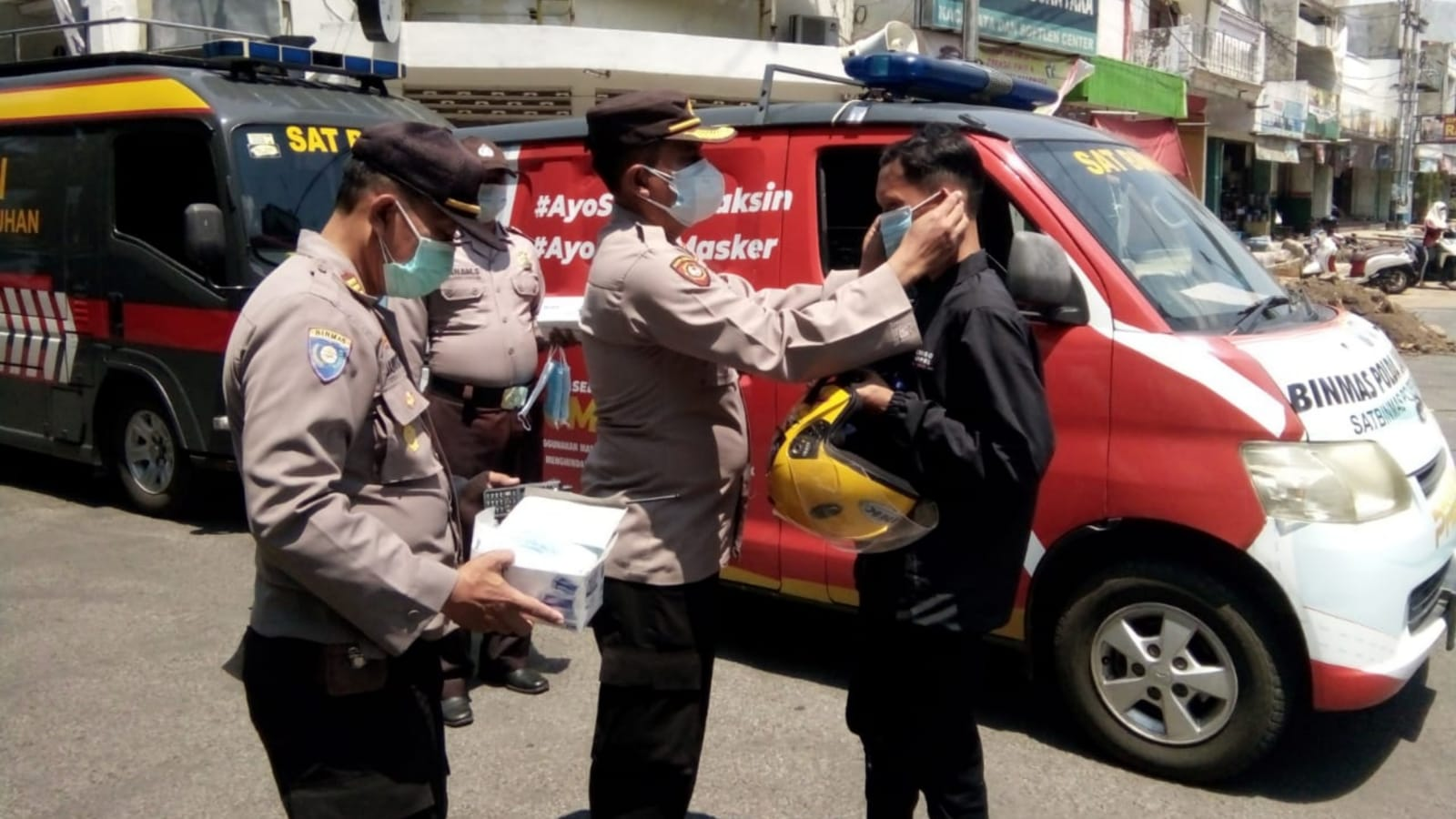 Begini Upaya Polisi Nganjuk Memutus Rantai Penyebaran COVID-19