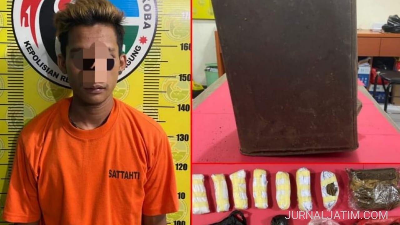 Polisi Tangkap Pemuda Pengedar Ratusan Gram Ganja di Tulungagung