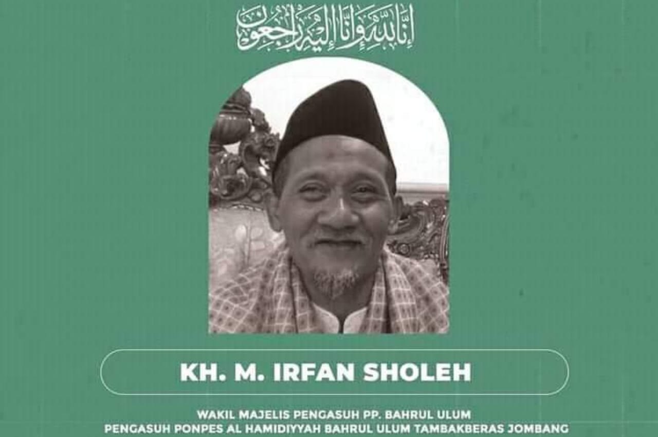 Kabar Duka, Pengasuh Ponpes Bahrul Ulum Jombang KH Irfan Sholeh Wafat