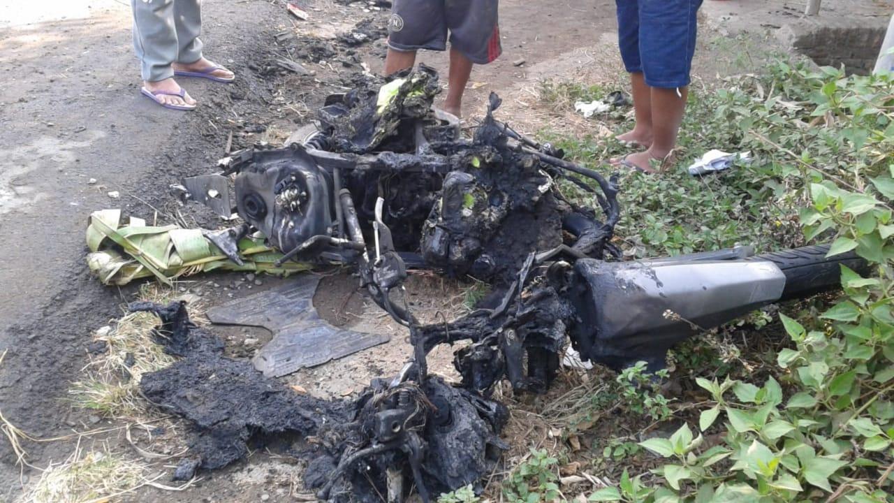Viral Motor Honda Vario Hangus Terbakar di Jombang, Begini Kronologinya