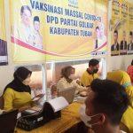 Vaksinasi Massal Golkar Tuban Sasar Masyarakat Umum Dosis Kedua